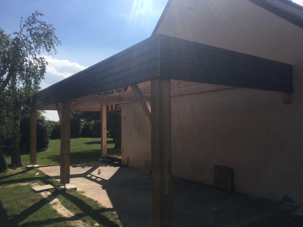 Carport bois leduc charpente loire atlantique for Garage ford la chapelle sur erdre